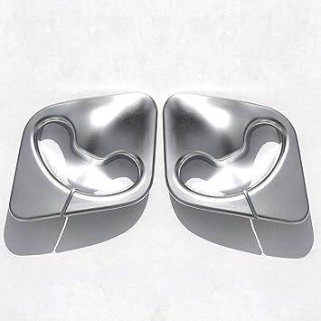 2 embellecedores cromados para cinturón de seguridad de coche para F15 2014-2018 ABS accesorios de plástico: Amazon.es: Coche y moto