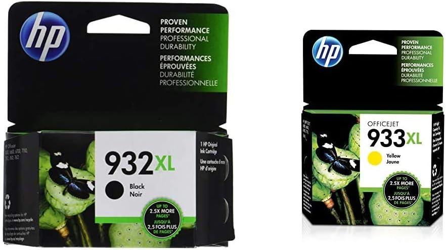 HP 932XL | Ink Cartridge | Black | CN053AN & 933XL | Ink Cartridge | Yellow | CN056AN