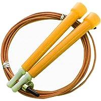 Corda De Pular Com Cabo De Aço Crossfit Speed Rope 3 Metros Amarelo