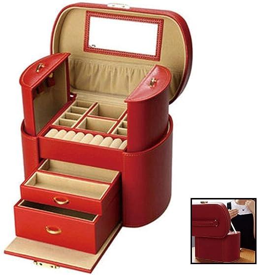 Cajas Caja De Joyería Sra Joyería Caja Grande Rojo De La Joyería ...