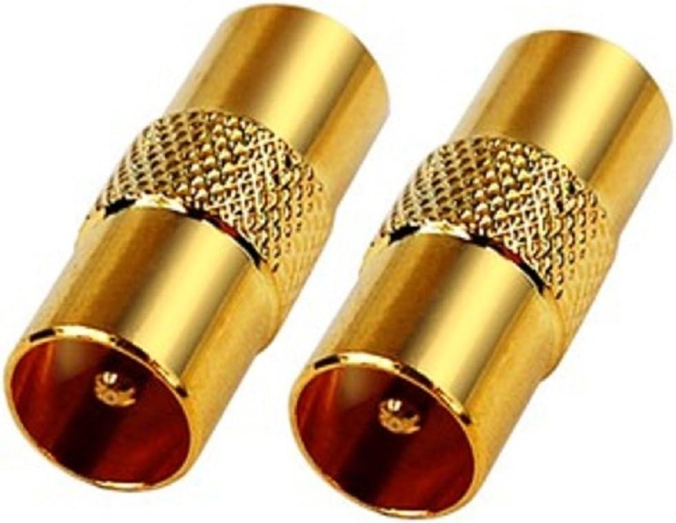 Conector Adaptador Cable RF Coaxial Empalme de Antena Macho ...