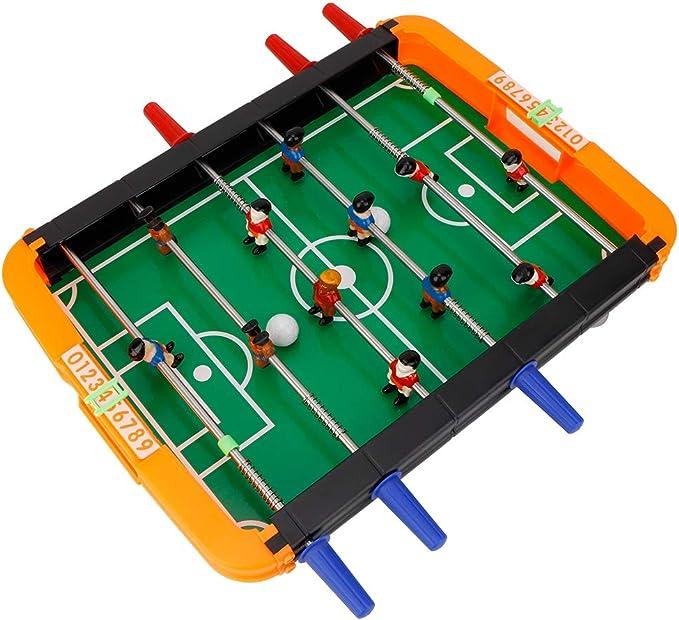 Juego de futbolín, juego portátil mini tablero de futbolín, Mesa de fútbol para niños, Juego Mesa de Fútbol: Amazon.es: Bebé