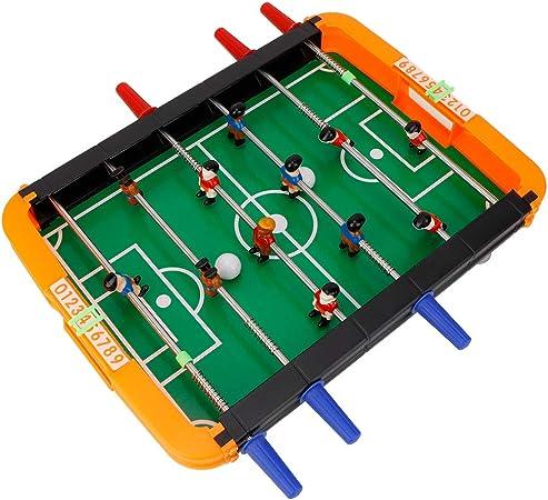 Mesa de futbolín Juego portátil Bolas de futbolín Mini Juego de Accesorios de fútbol de Mesa de futbolín: Amazon.es: Hogar