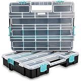Navaris organizador de tornillos - Caja de almacenaje de plástico para bricolaje - Compartimentos de diferentes tamaños…