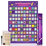"""AOZITA [New Ideas] 100 Fun Things Scratch Off Poster for Kids - Family Activity List for Kids with Family - Poster for Kids - Great Gifts for Kids Under 10 Years Old(16.5"""" x 23.4"""")"""