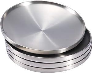 Sumerflos 304 Stainless Steel Dinner Plate, 8