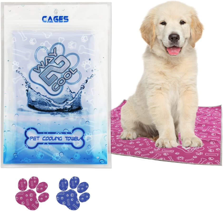 Way 2 Cool Our Innovated Pet Microfiber Cooling Towel. Comes in 3 Sizes for All Dog Sizes. Small/Medium/Large