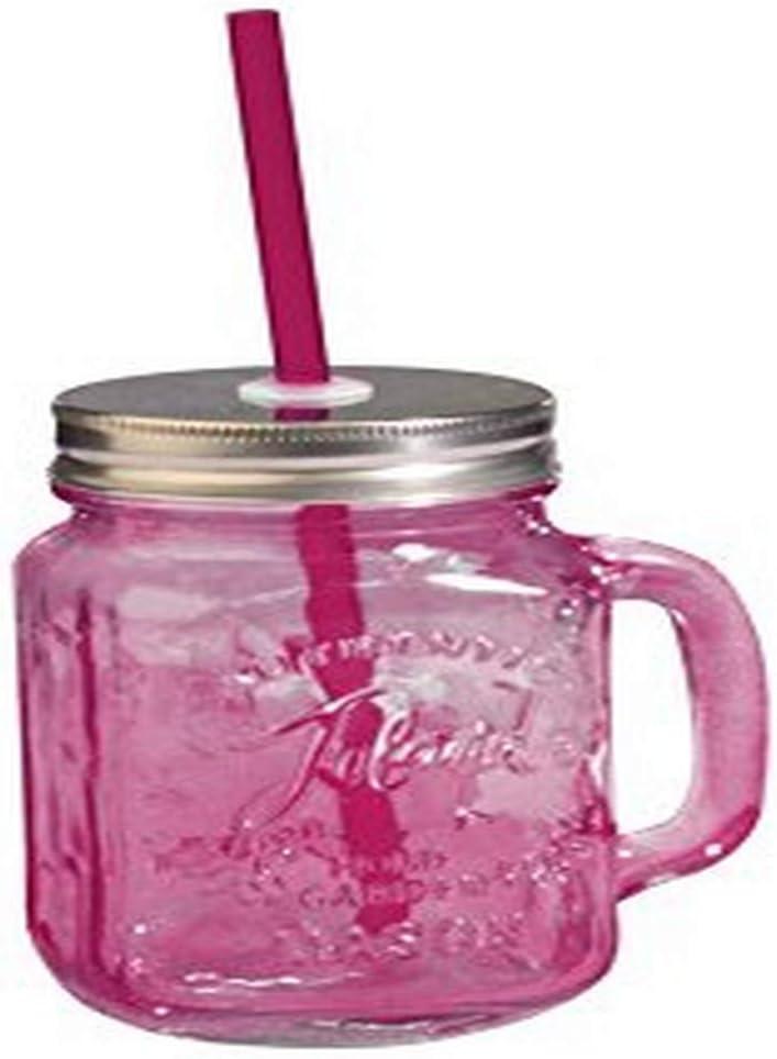 Toland Home Garden Mason Jar Mug, 1 pint, Red