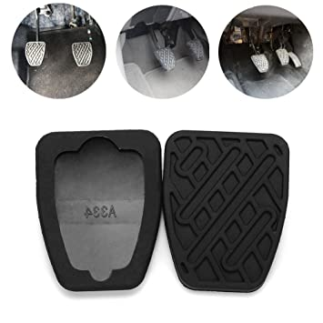 2 almohadillas de embrague de freno para coche, de goma manual, de reemplazo, pedal de goma de fácil instalación, negro: Amazon.es: Bricolaje y herramientas