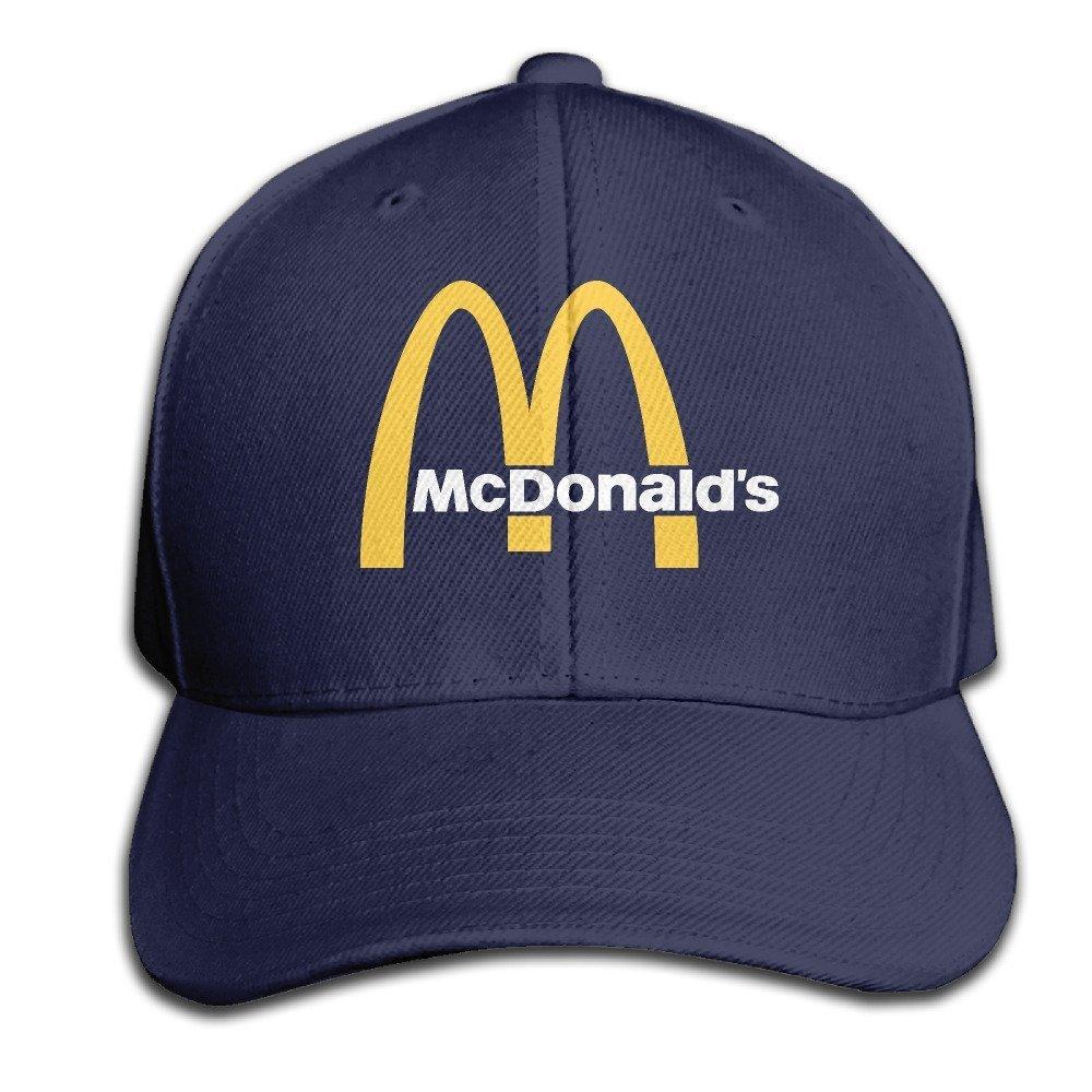 Traveleat Mcdonalds 90s Logo Unisex Peaked Baseball Cap Snapback Hats
