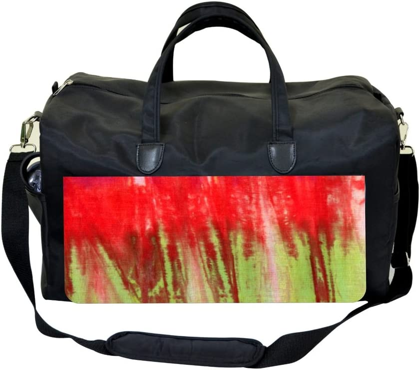 Red and Green Splatter Sports Bag