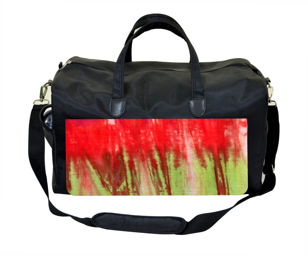 Red and Green Splatter Gym Bag