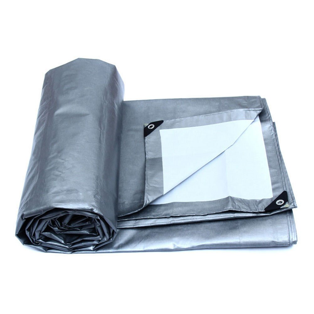 ZHANWEI ターポリンタープ Tarp テント タープ 厚い防水布オーニング 雨篷 厚い プラスチック オーニング 耐寒性 日焼け止め リノリウム ポリエチレン トラック 車 シェード 屋外 (色 : Gray, サイズ さいず : 5.8×3.8M) B07FZ514KH 5.8×3.8M|Gray Gray 5.8×3.8M