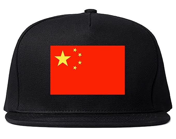 ce5463453ec295 China Flag Country Printed Snapback Hat Cap Black. Roll over image to zoom  in. Kings Of NY