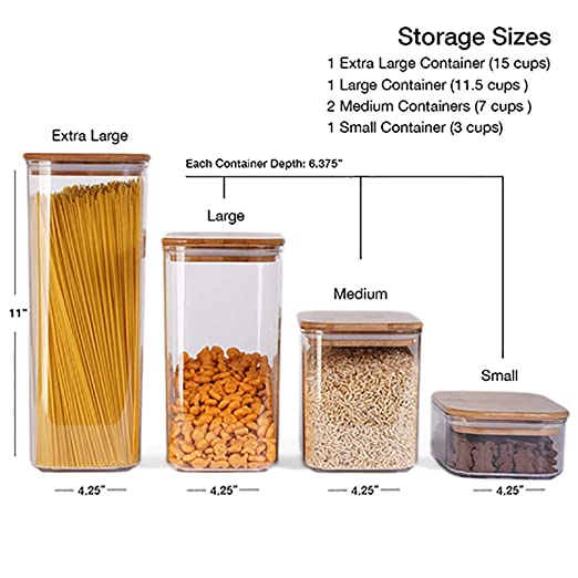 Amazon.com: The Order Project Cereal Containers - 5 - Piece ...