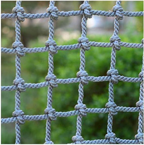 Size : 1 * 1m Birds Net Heavy Duty Playground Climbing Netting Waterproof Hemp Rope Net Ladder Truck Trailer Cargo Net Garden Outdoor Decor Balcony Stair Protection Fence Decor Mesh 3 * 3ft