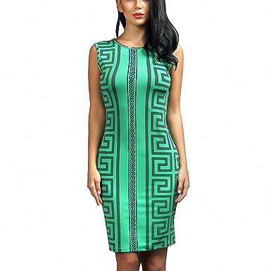 54dcd6e6c0c5 JJHDQ Summer Women Dress New Plus Size Sexy Bandage Dress Green Geometric  Print Bodycon Dress