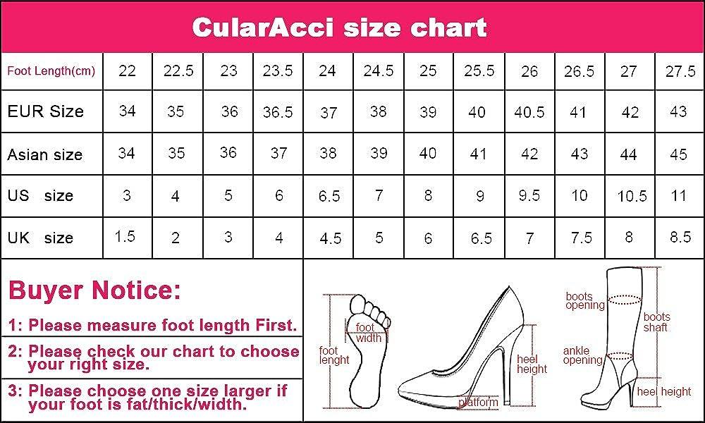 CularAcci Women Classic High Heel Fringe Boots