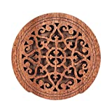 ammoon Guitar Wooden Soundhole Sound Hole Cover Block Feedback Buffer Mahogany Wood for EQ Acoustic Folk Guitars