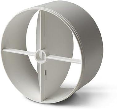 Válvula antirretorno para conductos de ventilación y campanas, de 100 mm, color blanco: Amazon.es: Bricolaje y herramientas