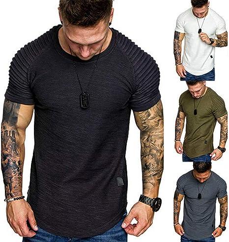 OOFAY Camisetas para Hombre Camisetas Hombre Manga Corta Crew Neck Camiseta para Hombre Camisetas Rock Hombre: Amazon.es: Deportes y aire libre
