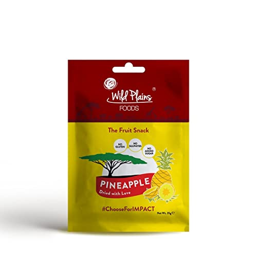 Wild Plains Foods Dried Pineapple Snack 16 x 35g