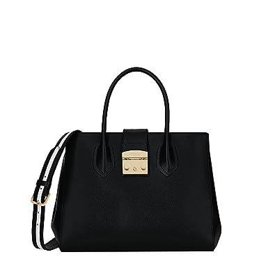 e92327318d Amazon.com  Furla Women s Metropolis Post Medium Tote Onyx Petalo One Size   Shoes