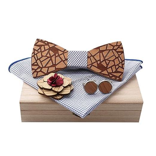 Set de corbata Pañuelo de corbata de moño for hombre, mancuernas y ...