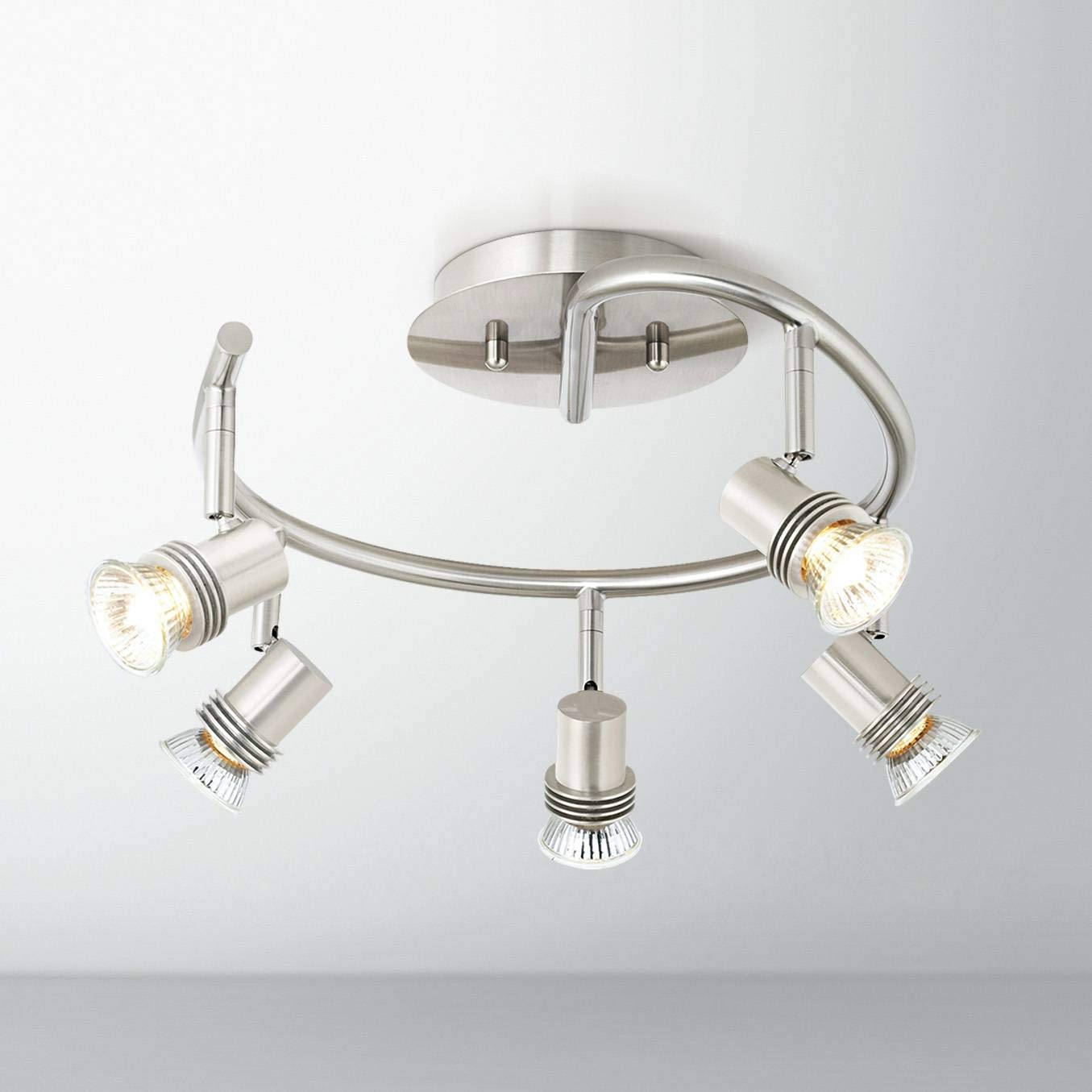 Pro Track 15 3/4'' Wide 5-Light Spiral Track Ceiling Light - Pro Track