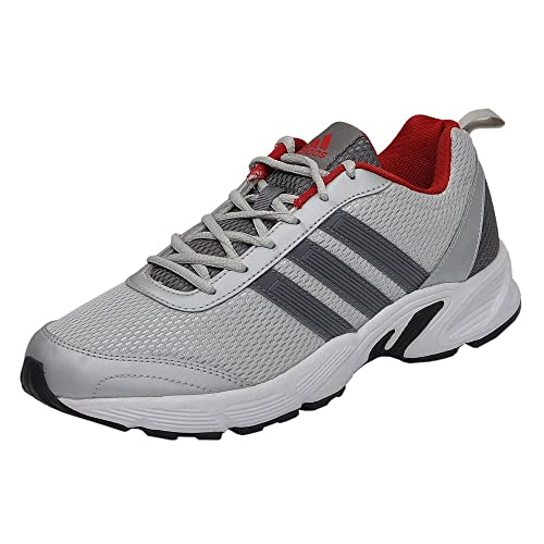 Buy Adidas Men's Albis 1.0 Vista Grey and Power Red Running Shoes ...