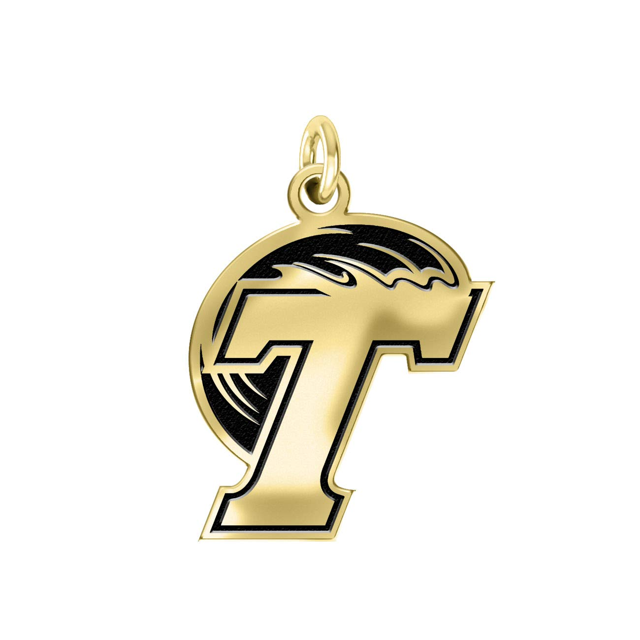 Tulane Green Wave 14k Yellow Gold Cut Out Logo College Charm