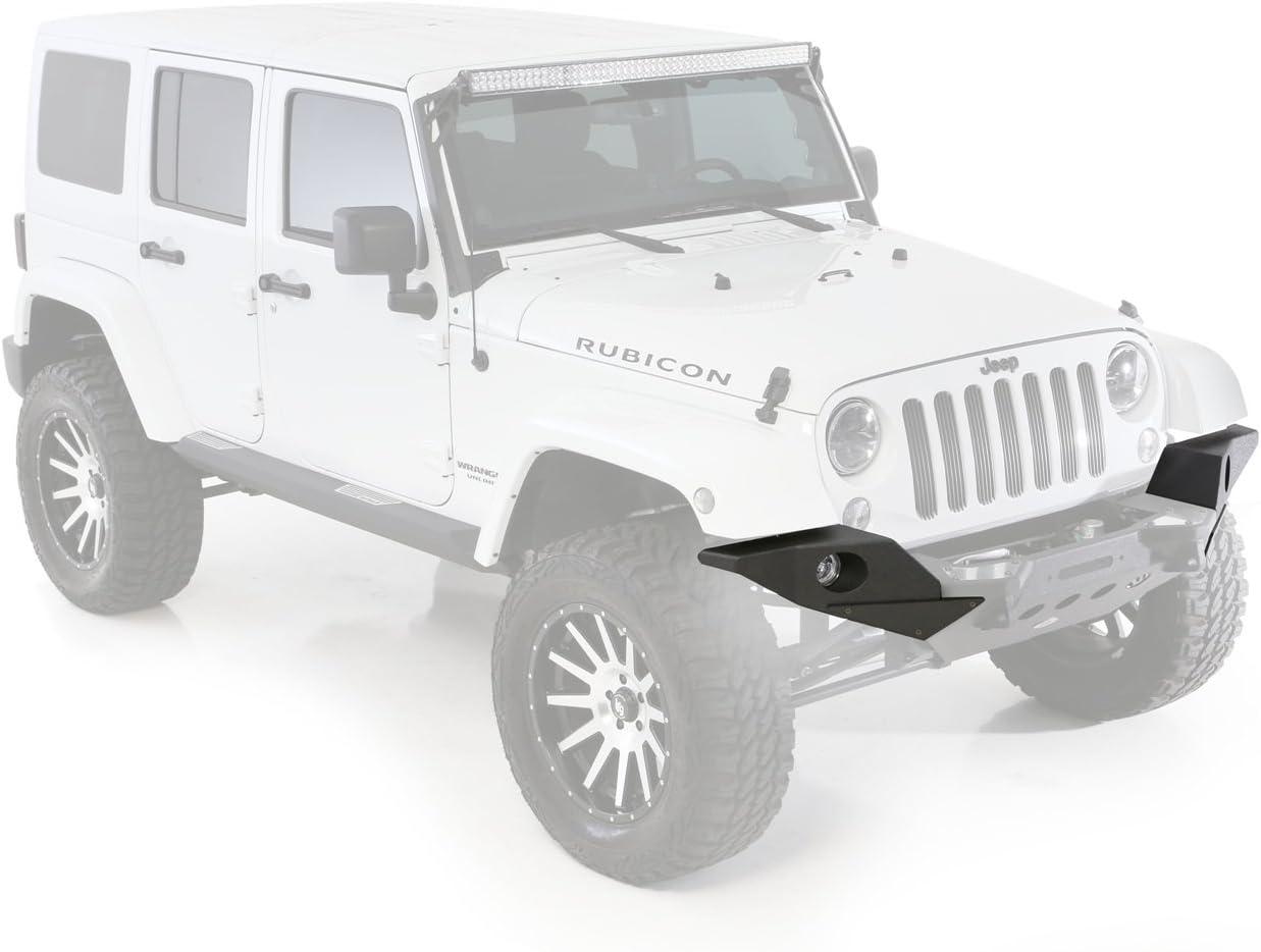 Black for 07-18 Jeep Wrangler JK Smittybilt XRC M.O.D Full Width End Plates