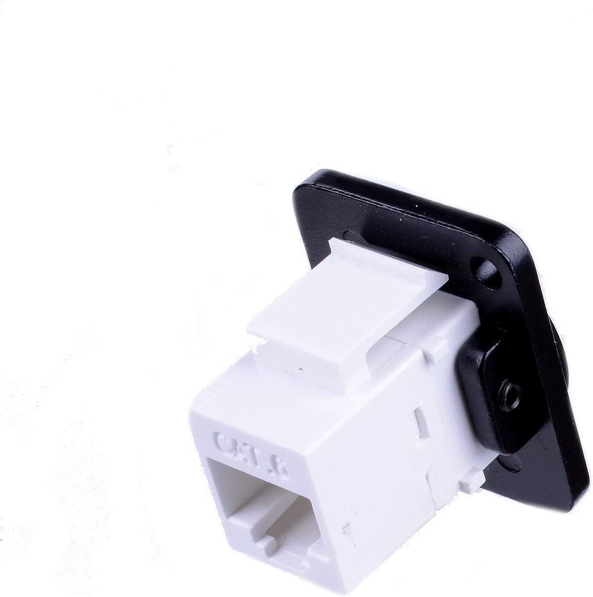 RJ45 Ethernet Connector 100Mbit//s Data Transfer CAT6 Dual Port Network Socket 86 Panel Mount 8 Pin D Shape Signal Aviation Connectors for Audio Video Optoelectronic Network