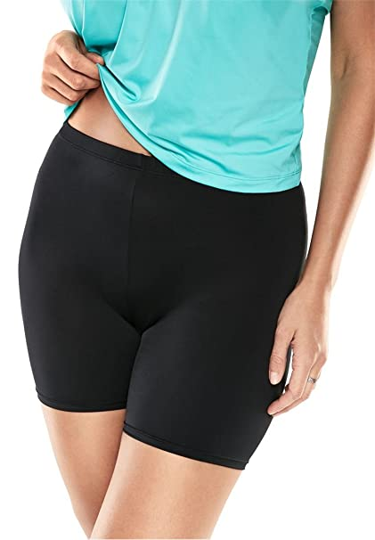 c329b3519f Women's Plus Size Swim Bike Short at Amazon Women's Clothing store: