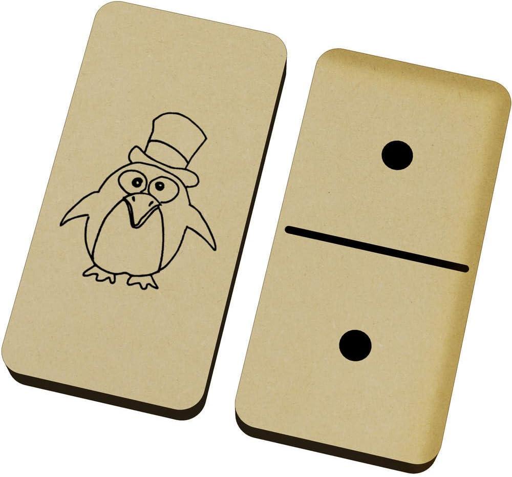 Azeeda Pingüino Loco Domino Juego y Caja (DM00016739): Amazon.es: Juguetes y juegos