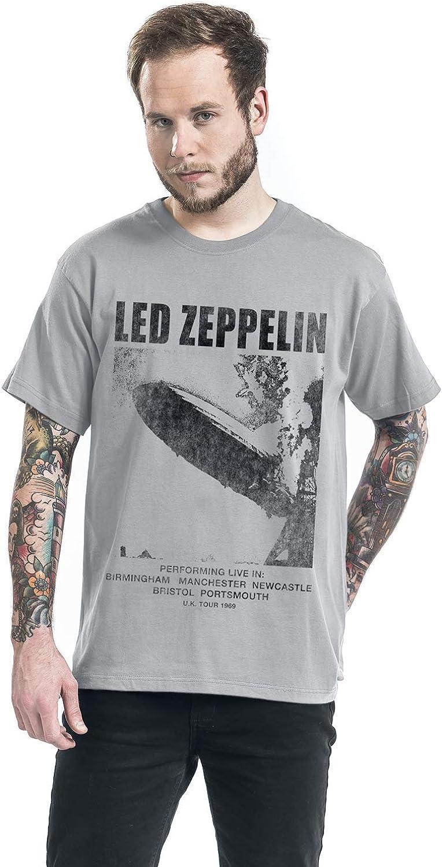 Led Zeppelin UK Tour 69 T-Shirt Grigio Chiaro