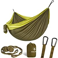 Pys Double Portable Camping Hammock with Straps Set