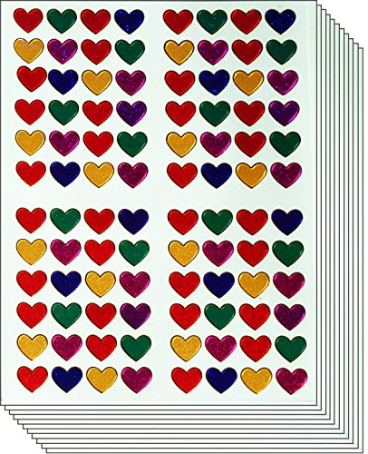 Small Heart (Jazzstick 960 Colorful Valentines Small Heart Stickers 10 sheets (VST01A08) )