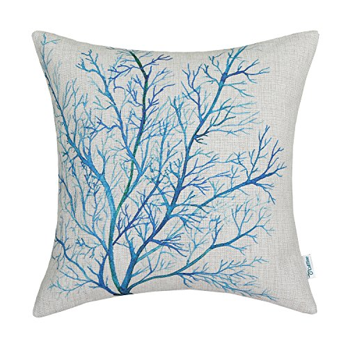 Blue Coral Throw Pillow : Compare Price: blue and coral throw pillows - on StatementsLtd.com