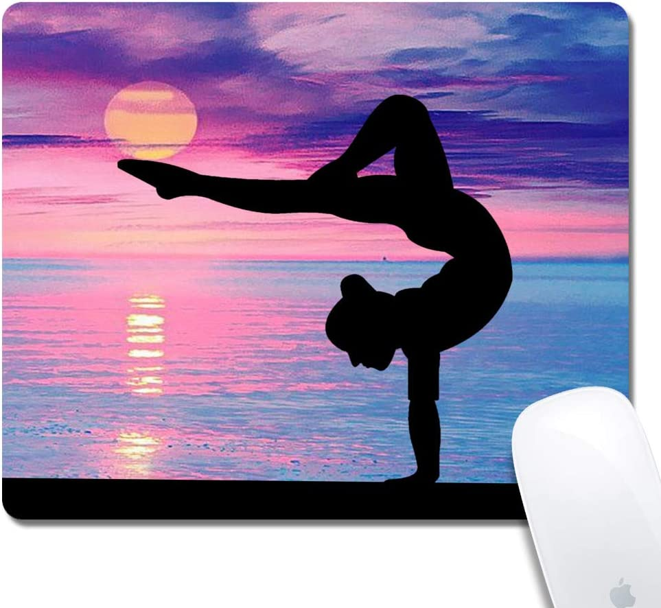 Black Rectangle Mouse Pad with Stitched Edges,Cool Fuck Customized Design Extended Gaming Mouse Pad Anti-Slip Rubber Base Ergonomic Mouse Pad for Computer