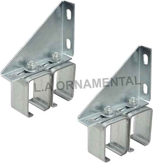 Set 3 Single Wall Box Rail Bracket Galvanized Steel Sliding Barn Door Track