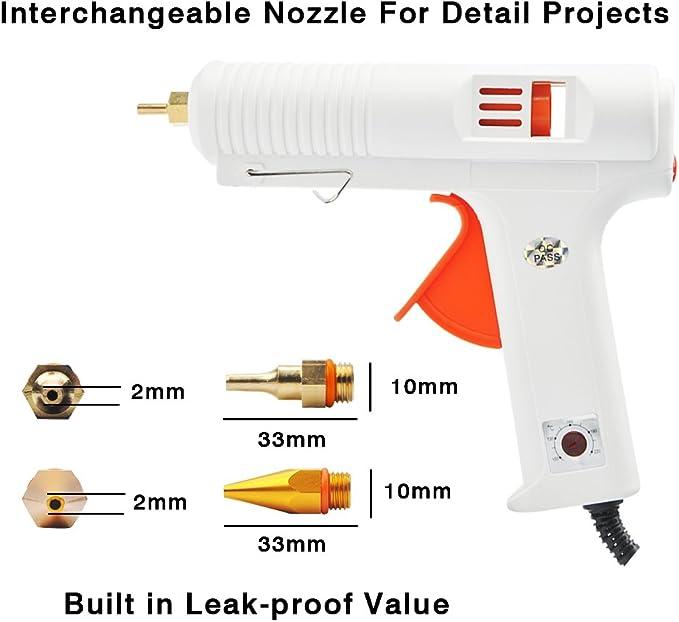 PYS Hot Melt pegamento pistola con 24 piezas pistola de pegamento ...