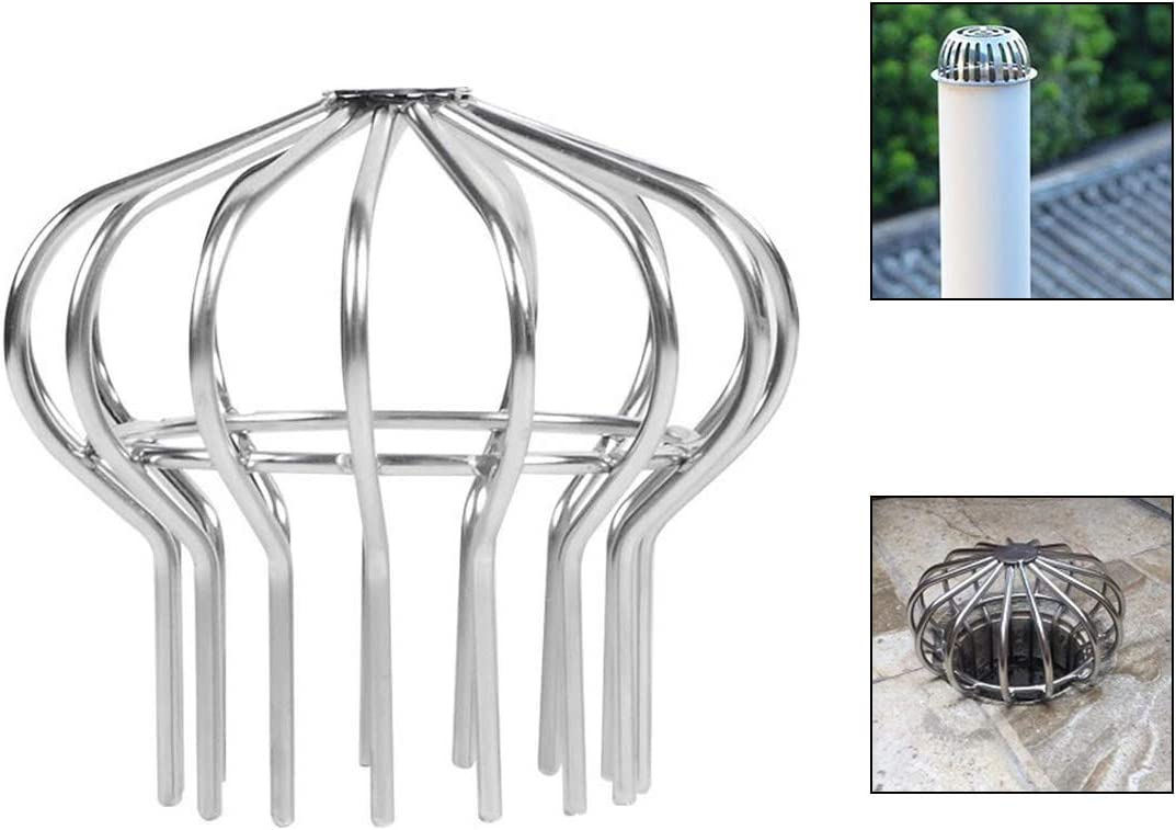 Stops Blockage Leaves Debris 4.8 Stainless Down Pipe Gutter Balloon Guard Filter