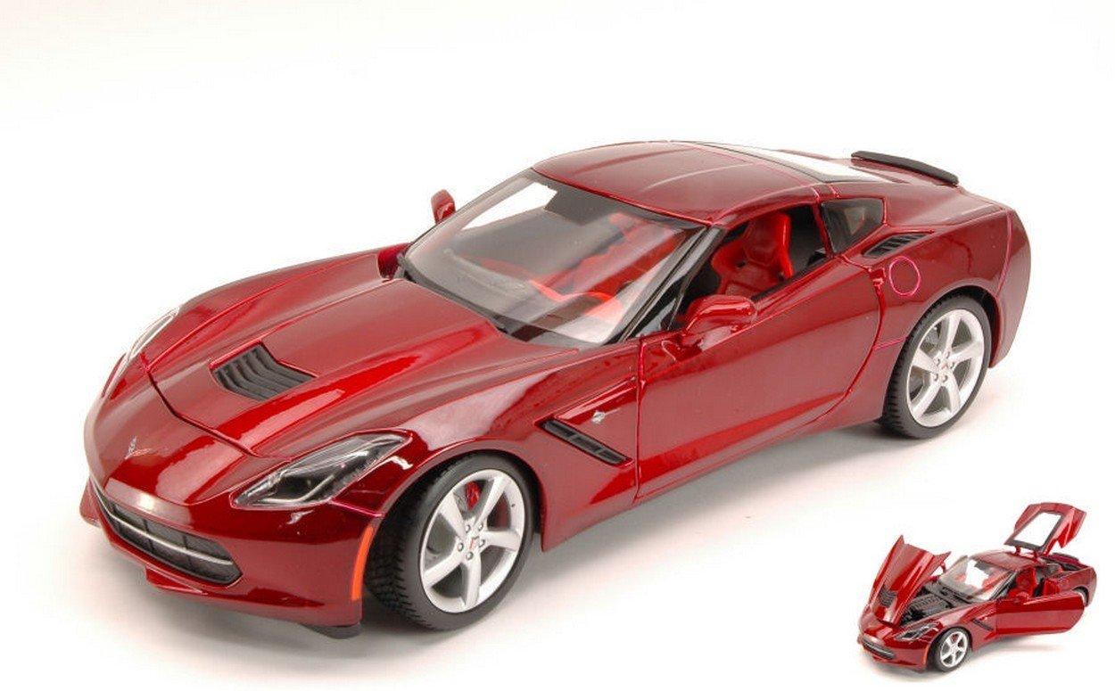 NEWUS MAISTO MI31182R Chevrolet Corvette Stingrau 2014 METALLIC ROT 1:18 DIE CAST