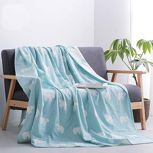 AQIALE Manta Individual de algodón Doble, Manta de sofá, Manta ...