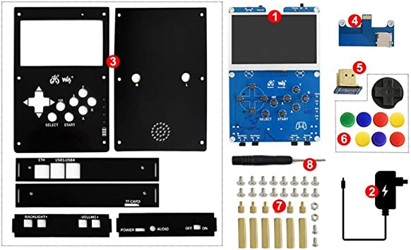 GamePi43 Accessories Pack Include Add-ons for Raspberry Pi to ...