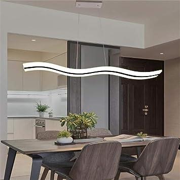 LMZMYKMY-LIGHTING Lustre Rustique Moderne LED Forme de Vague ...