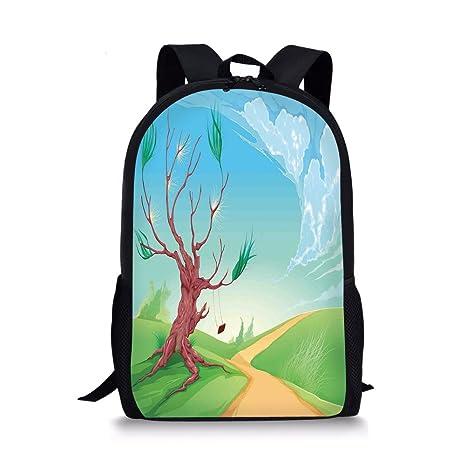 e6b11c71c890 Amazon.com: iPrint School Bags Landscape,Romantic Landscape with ...