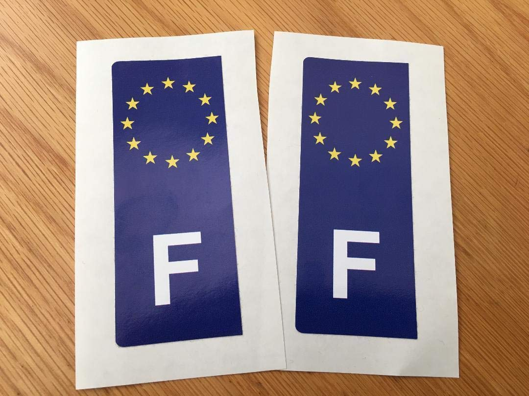French Euro Number Plate Stickers (Pair) Rapro Graphics