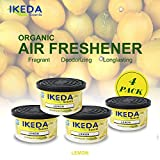 Ikeda Odor Eliminator Scents Organic Block Natural Air Freshener Eliminates Odor in Cars Bathrooms Boats RVs Room Kitchen and Pet Areas (Lemon, 4)